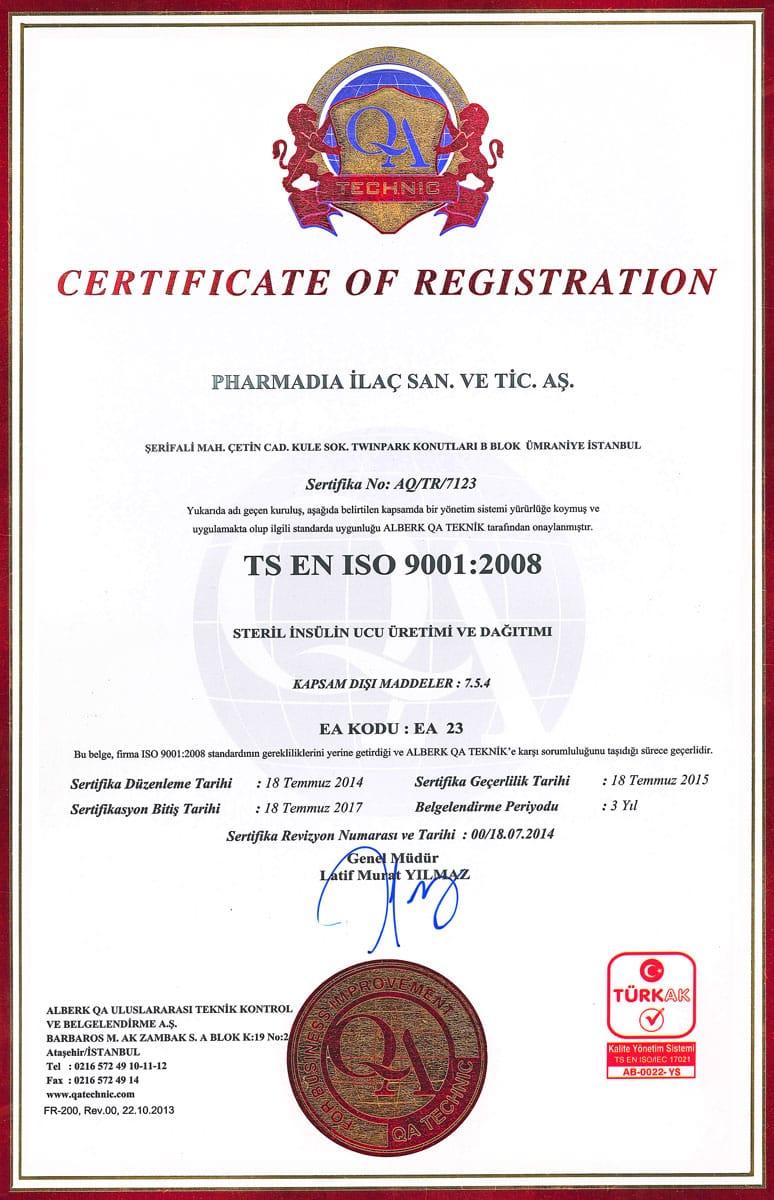 TS EN ISO 9001:2008
