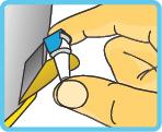 Entnahme der Insulin-Pen-Nadel