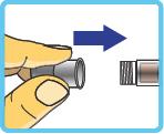 Aufsetzen der Nadel auf den Insulin-Pen