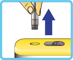 Abheben des Insulin-Pens